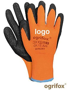 Zaščitne zimske rokvice poliester/lateks Ogrifox s tiskom logotipa