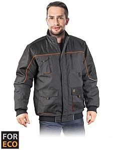 Zimska jakna Foreco sive/oranžne/črne