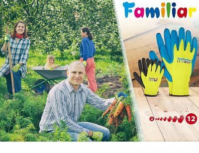 Zaščitne rokavice Familiar poliester/lateks