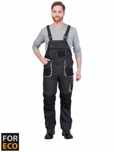 Farmer hlače Foreco sive/črne