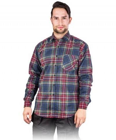 Moška karirasta flanelasta delovna srajca