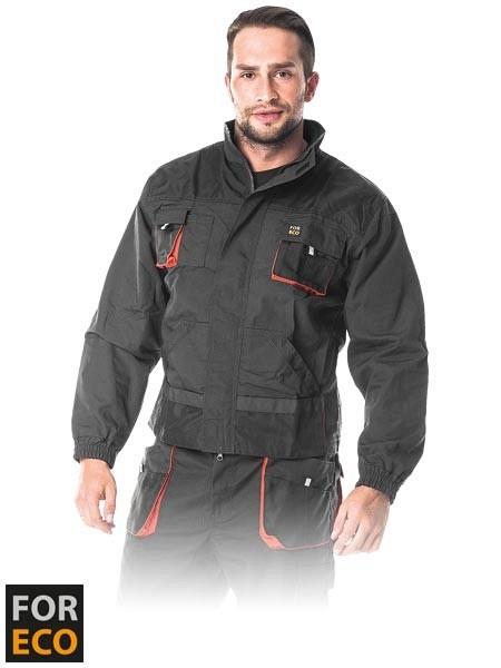 Delovna jakna Foreco sive/oranžne/črne