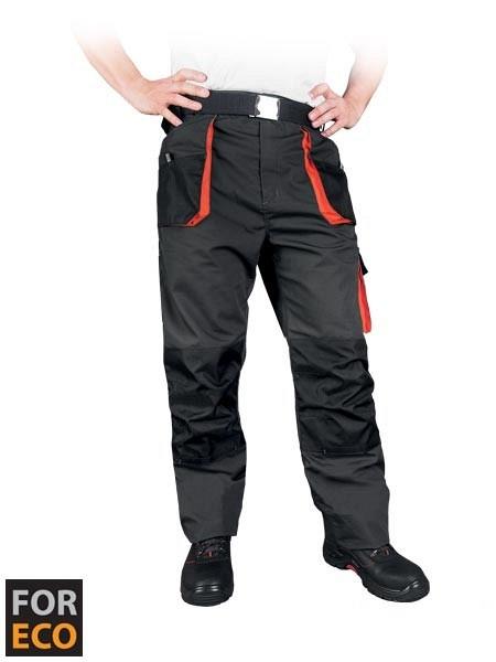 Delovne hlače na pas Foreco sive/oranžne/črne