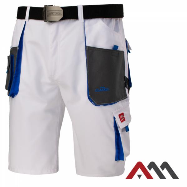 Kratke delovne hlače Classic white