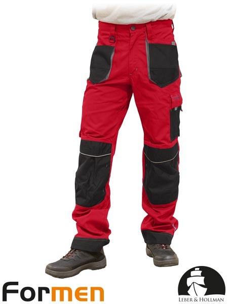 Delovne hlače na pas Formen rdeče/sive/črne
