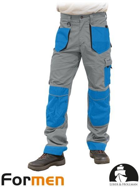 Delovne hlače na pas Formen sive/svetlo modre/črne