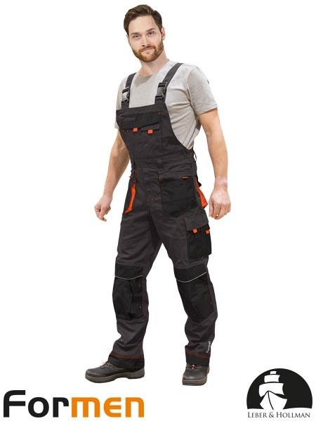 Farmer hlače Formen sive/črne/oranžne