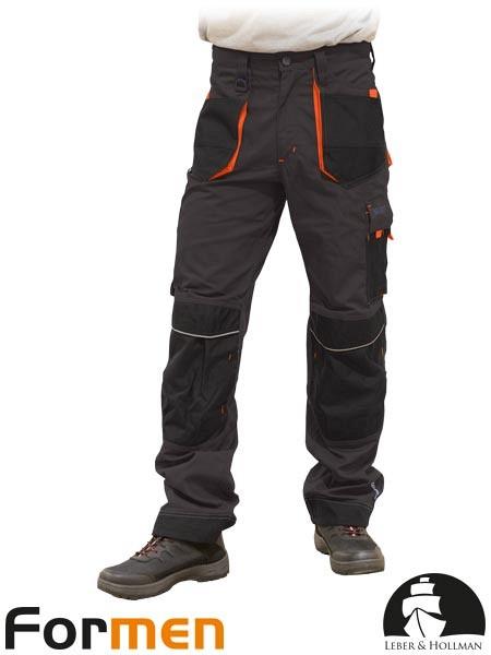 Delovne hlače na pas Formen sive/oranžne/črne