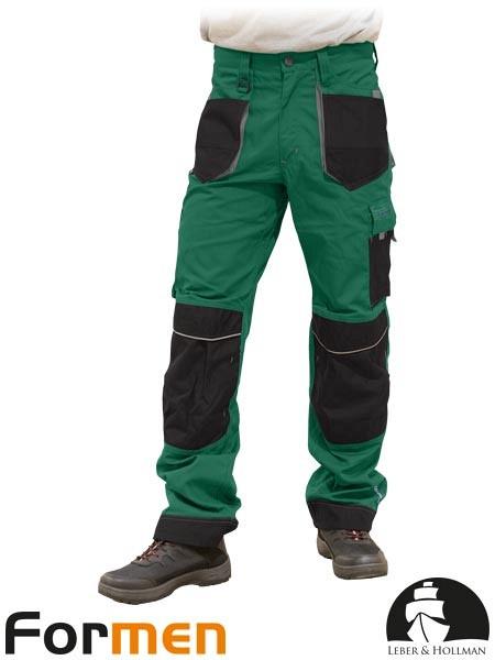 Delovne hlače na pas Formen zelene/črne/sive