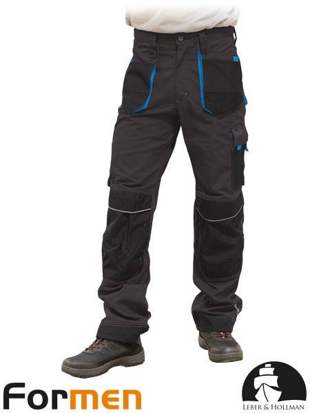 Delovne hlače na pas Formen sive/modra/črne