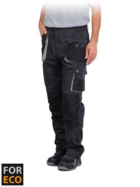 Delovne hlače na pas Foreco sive/črne