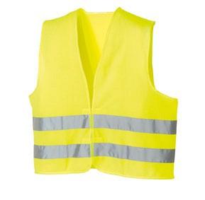 Odsevni brezrokavnik rumene barve