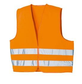 Odsevni brezrokavnik oranžne barve