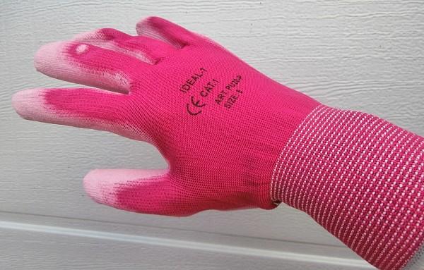 Zaščitne rokavice najlon pink kategorija 1