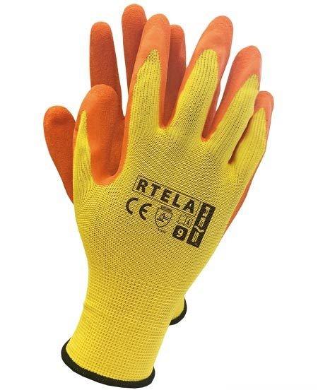 Zaščitne rokavice Rtela rumene/oranžne barve