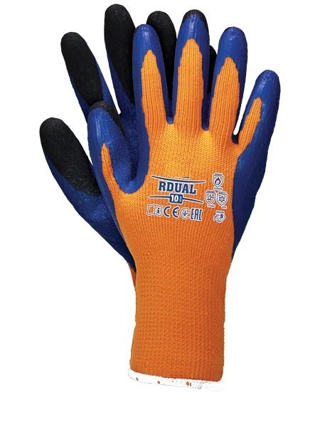 Zaščitne zimske rokavice Dual oranžne EN388 in EN407