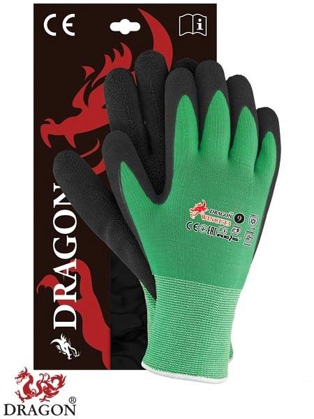 Zimske protiurezne zaščitne rokavice WINCUT3 zelene